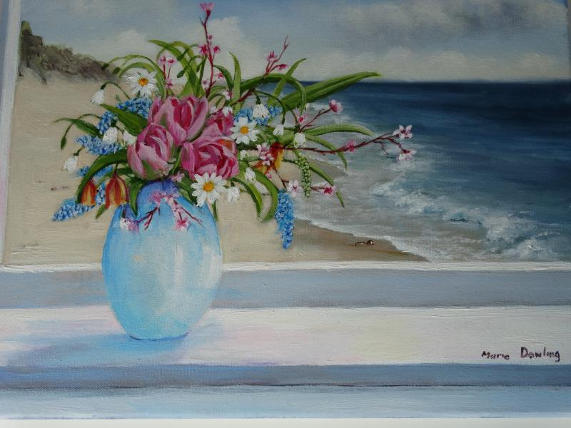 Summer flowers by the Sea
